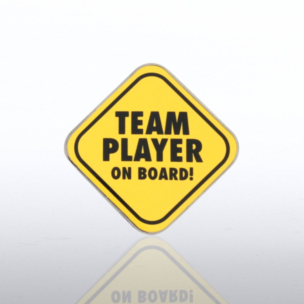 View larger image of Lapel Pin - Team Player on Board!