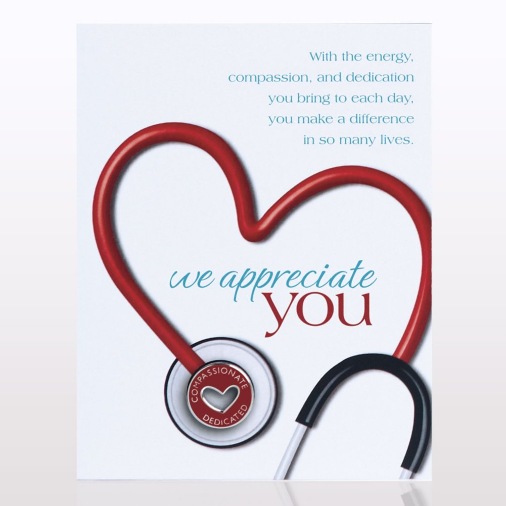 View larger image of Character Pin - Stethoscope: We Appreciate You