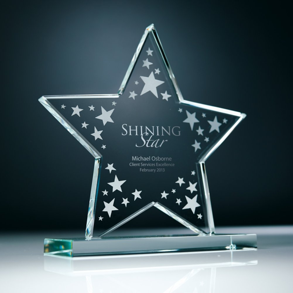 View larger image of Etched Glass Award - Star Cluster