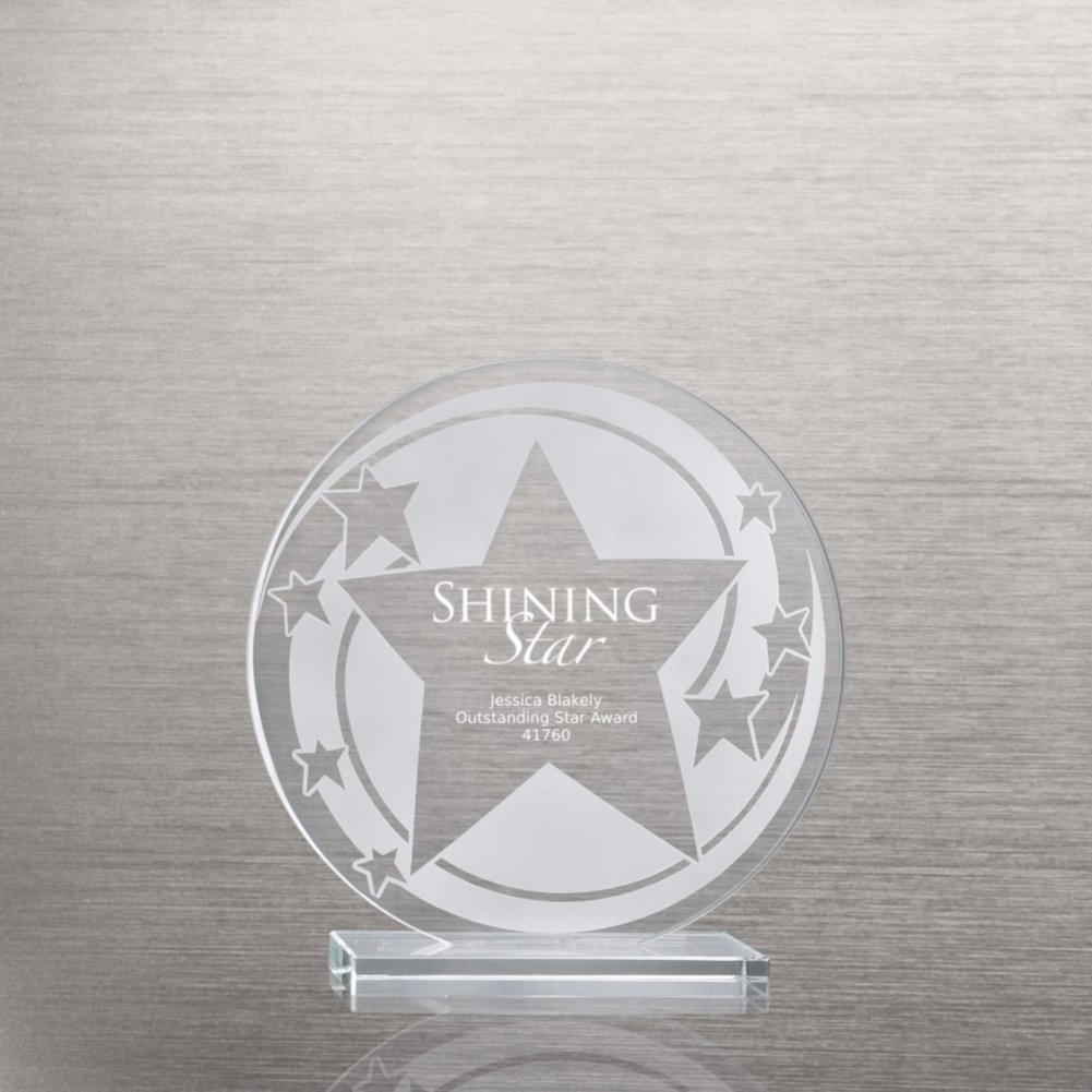 View larger image of Etched Glass Award - Star Swirl