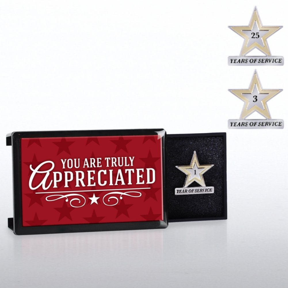 View larger image of Milestone Anniversary Lapel Pin - You Are Truly Appreciated