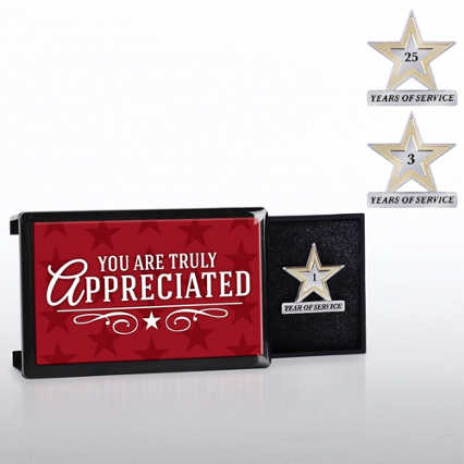 Milestone Anniversary Lapel Pin - You Are Truly Appreciated