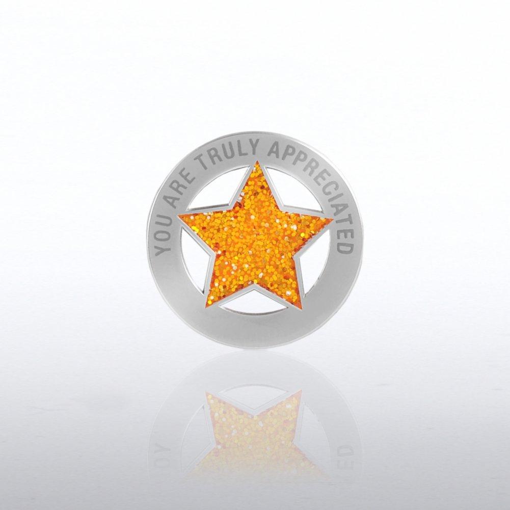 Glitter Lapel Pin - You Are Truly Appreciated