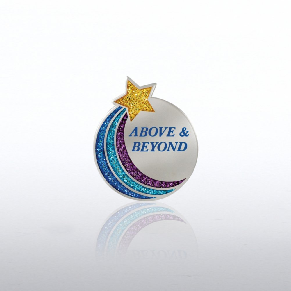 View larger image of Glitter Lapel Pin - Above & Beyond Star