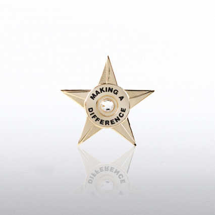 Lapel Pin - Making a Difference Star Circle