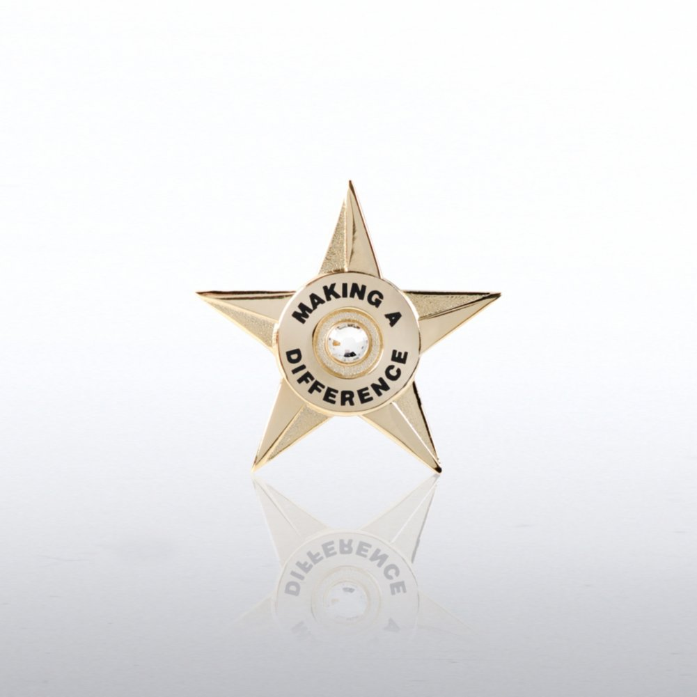 View larger image of Lapel Pin - Making a Difference Star Circle