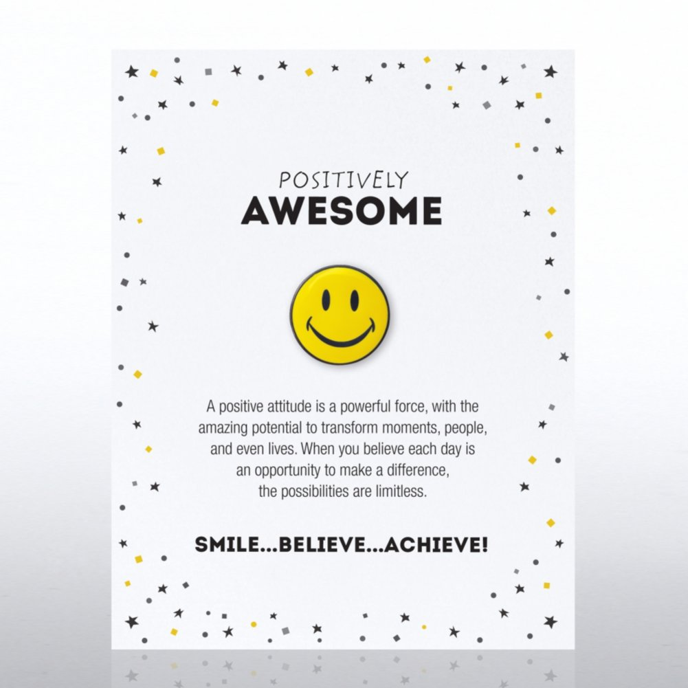 View larger image of Character Pin - Positively Awesome