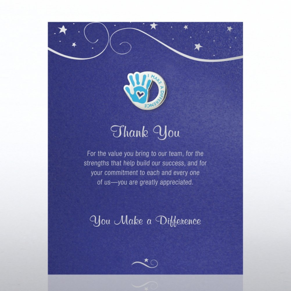 Character Pin - Thank You: You Make a Difference