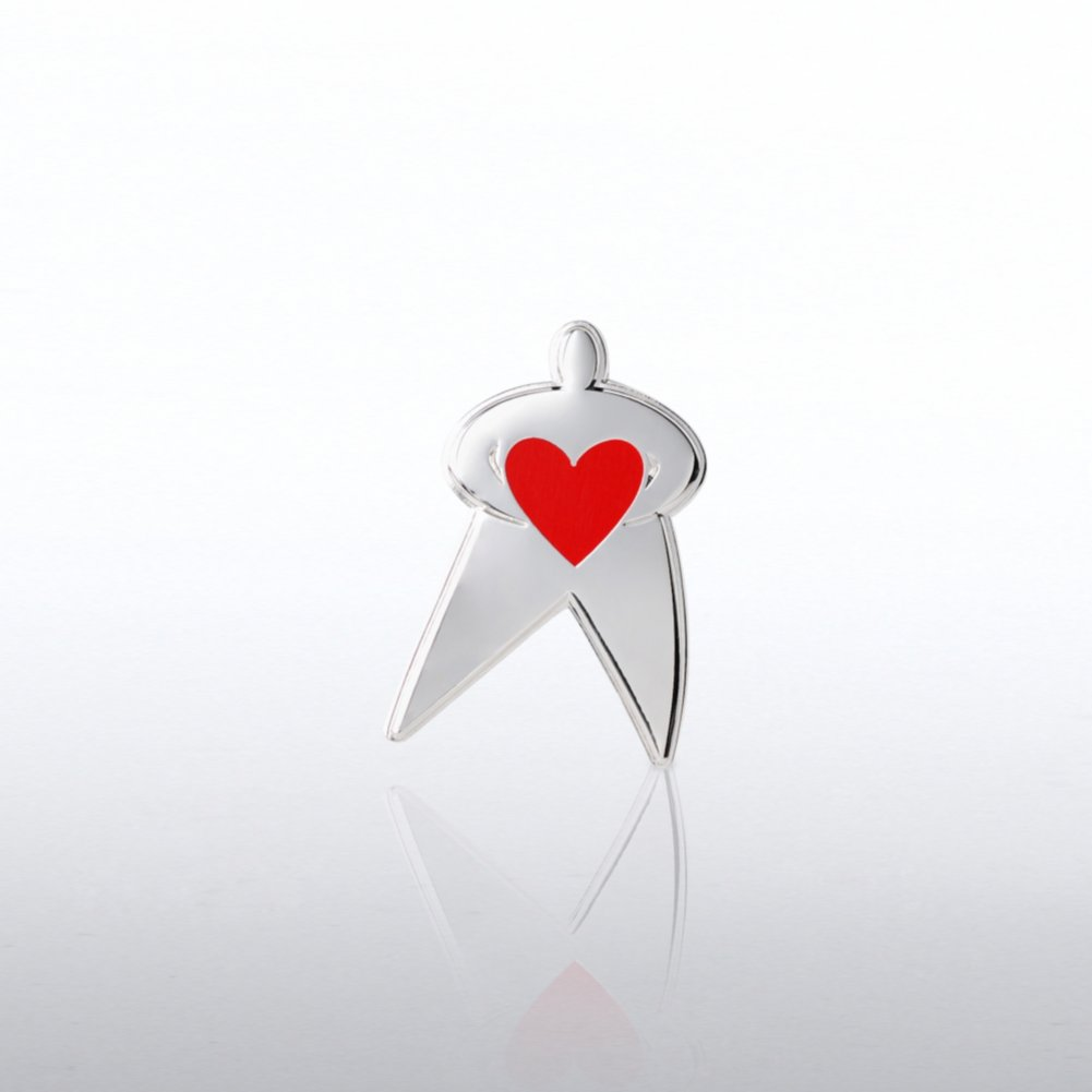 View larger image of Lapel Pin - Team Guy with Heart