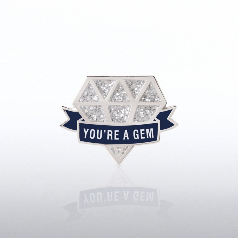 View larger image of Lapel Pin - Glitter - You're a Gem Diamond