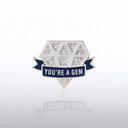 Lapel Pin - Glitter - You're a Gem Diamond
