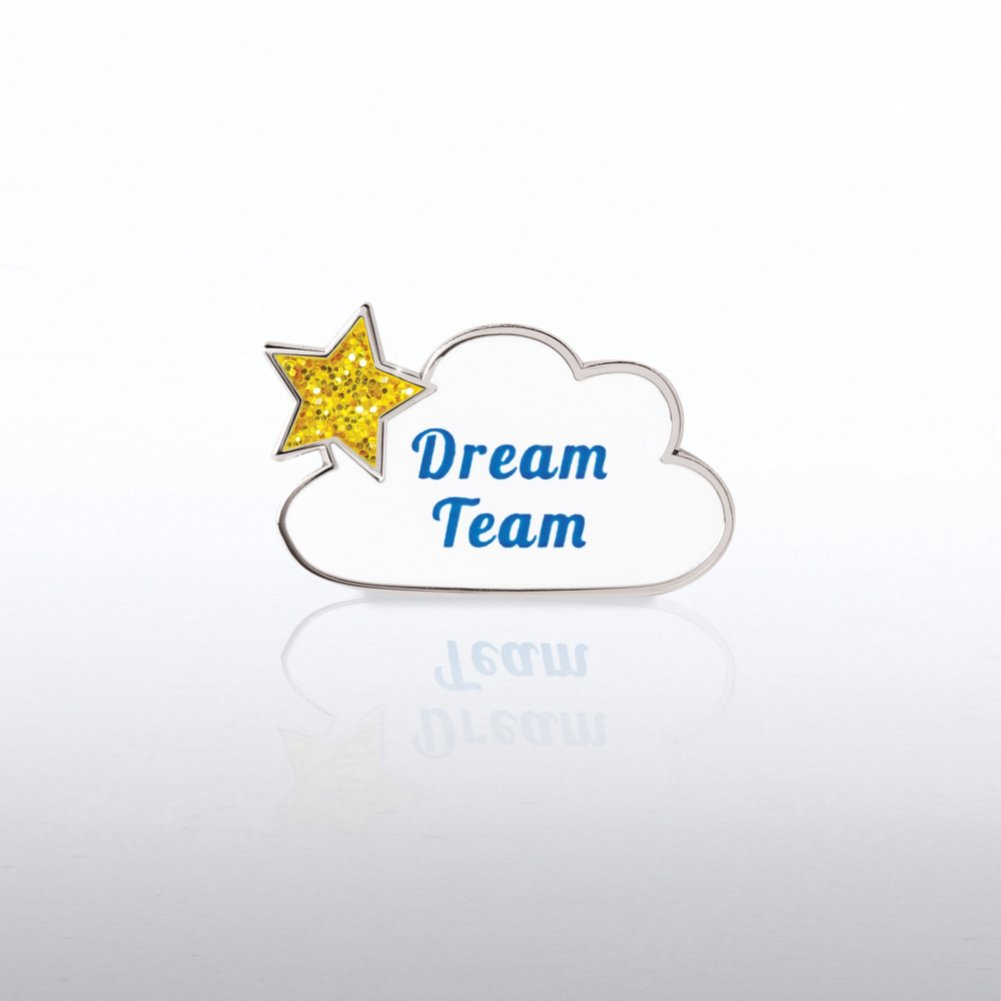 View larger image of Lapel Pin - Glitter - Dream Team Cloud