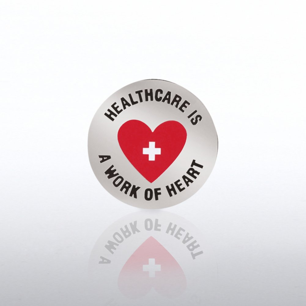 View larger image of Lapel Pin - Healthcare is a Work of Heart