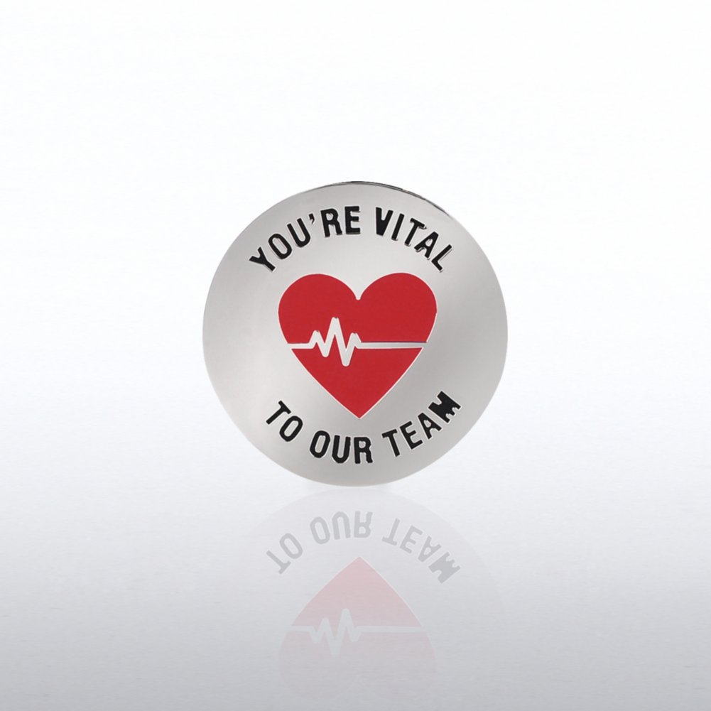 View larger image of Lapel Pin - You're Vital to our Team