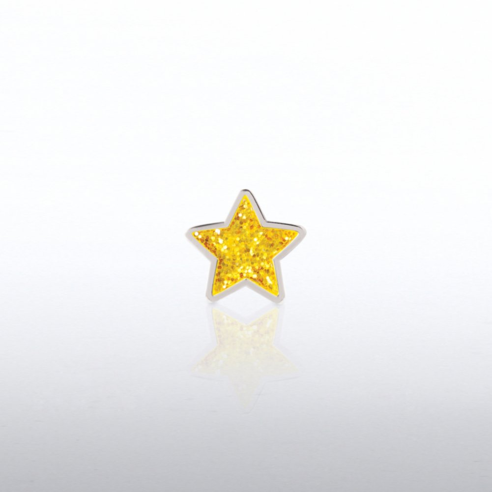 View larger image of Lapel Pin - Glitter Gold Star
