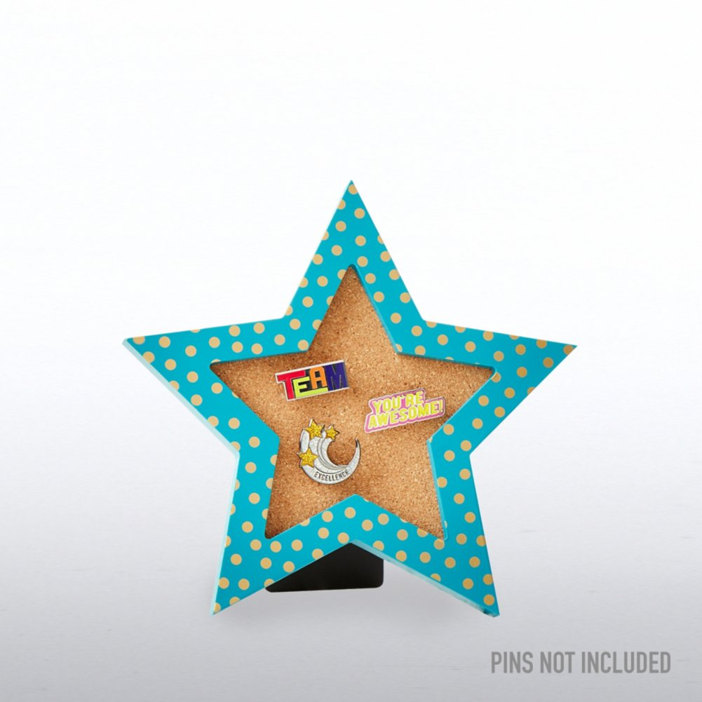 View larger image of Corkboard Pin Collector - Gold Metallic Polka Dot Star
