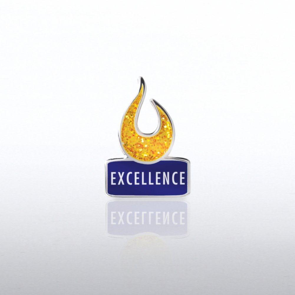 Lapel Pin - Glitter Excellence Flame