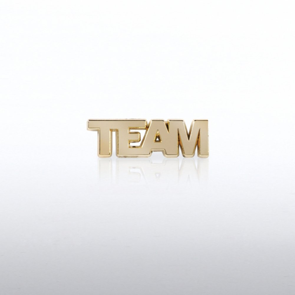 View larger image of Lapel Pin - TEAM Gold Letters