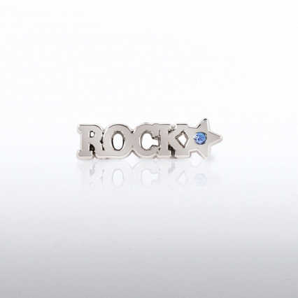 Lapel Pin - Rock Star with Gem