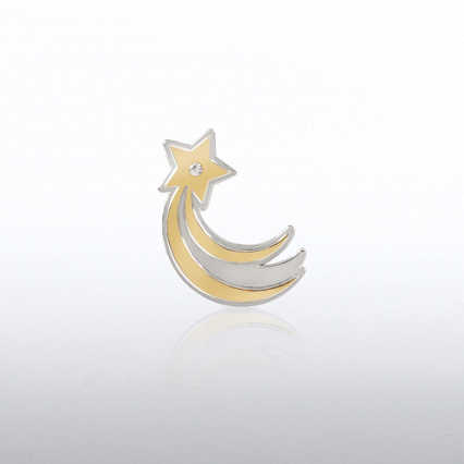 Lapel Pin - Shooting Star Gem