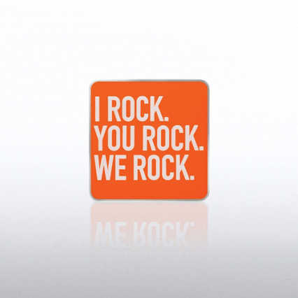 Lapel Pin - I Rock, You Rock, We Rock