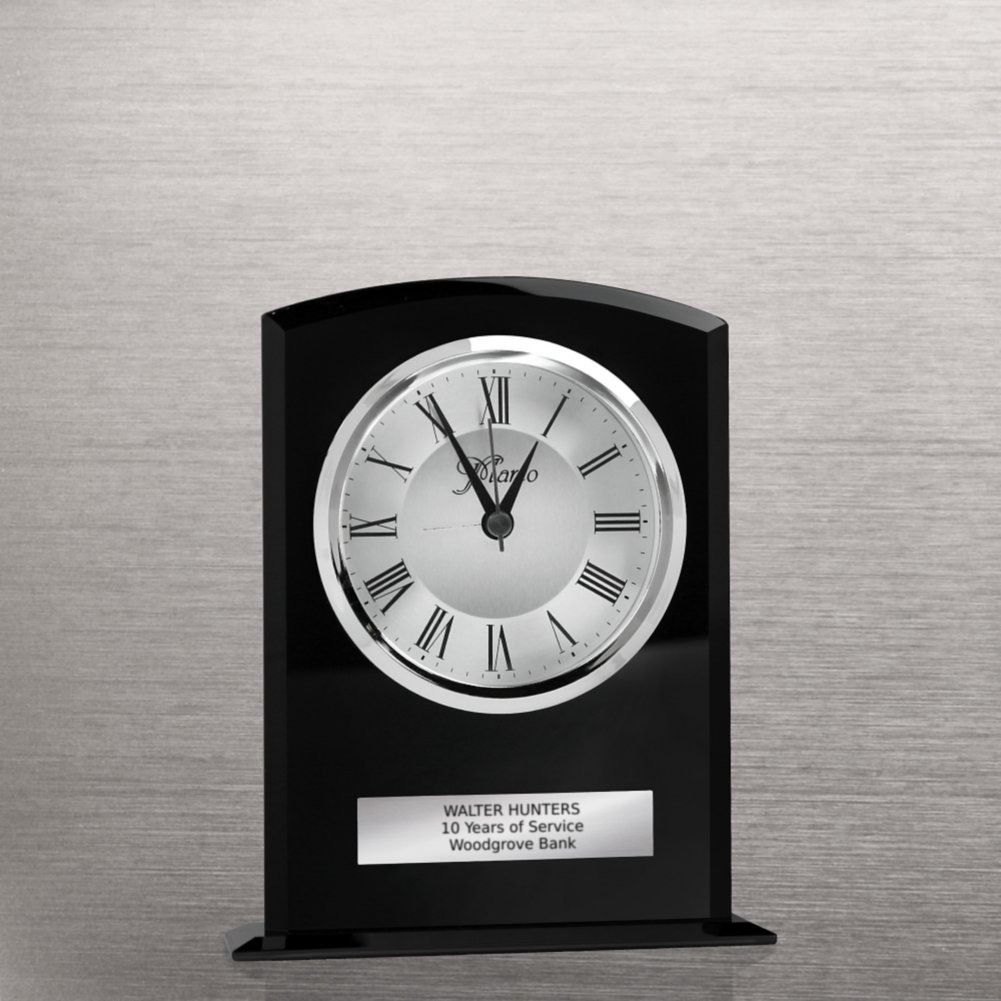 View larger image of Elegant Black Glass Clock