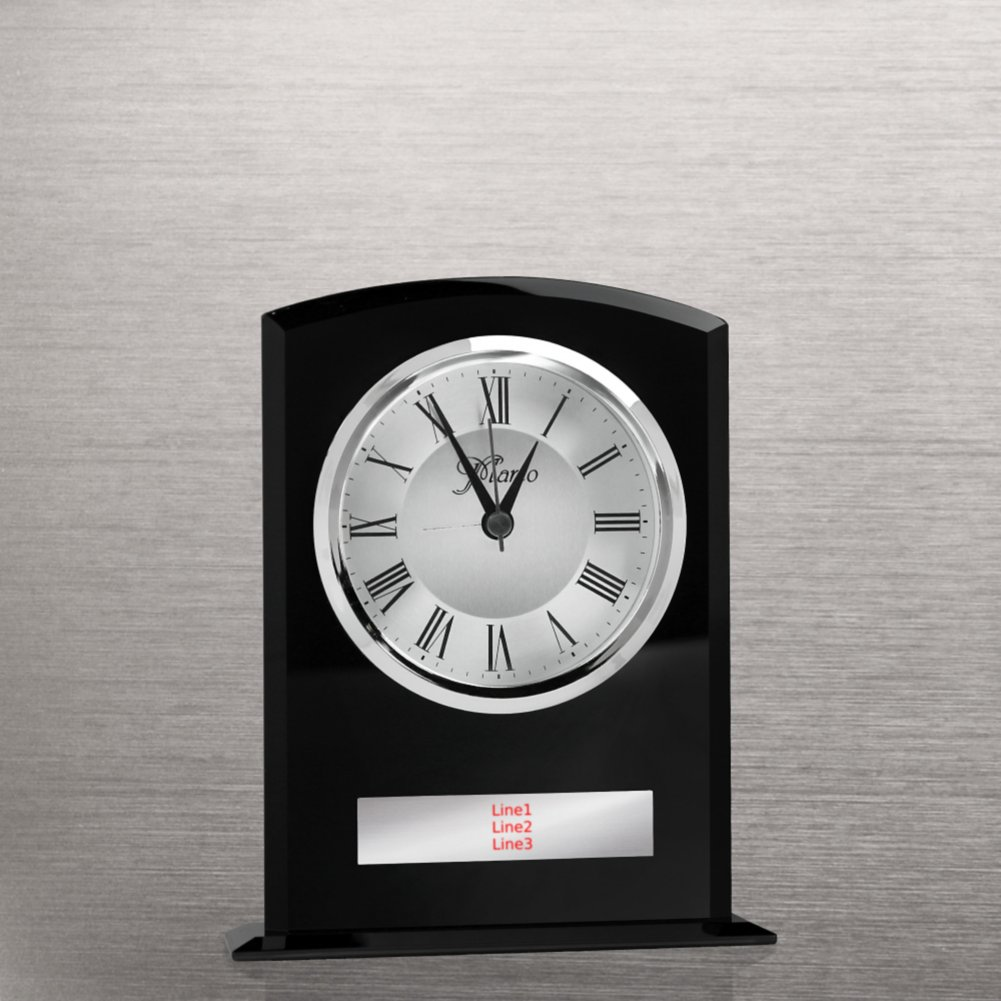 Elegant Black Glass Clock