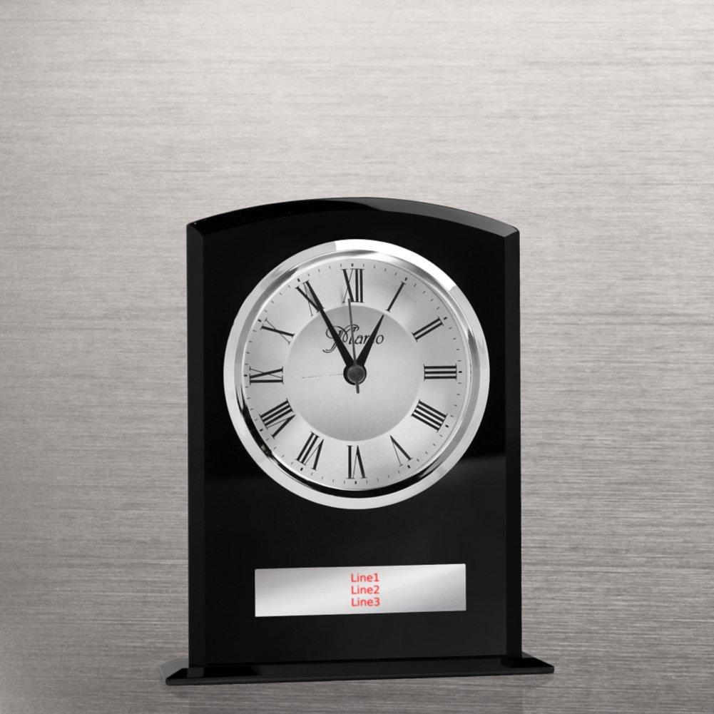 Elegant Black Glass Clock