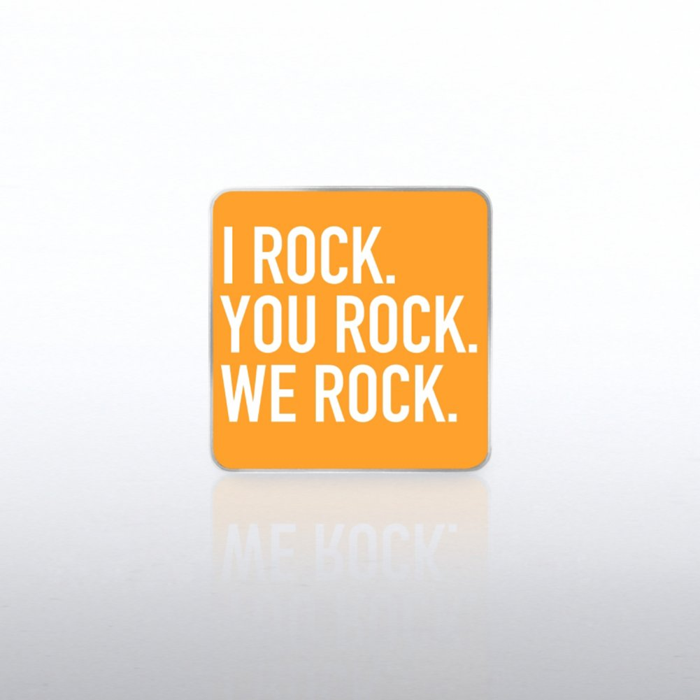 View larger image of Lapel Pin - I Rock, You Rock, We Rock  WC
