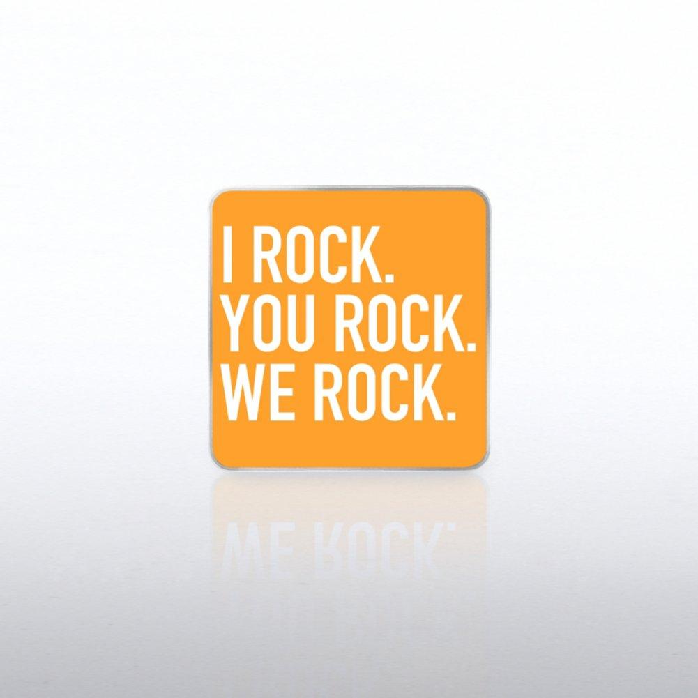View larger image of Lapel Pin - I Rock, You Rock, We Rock  WC