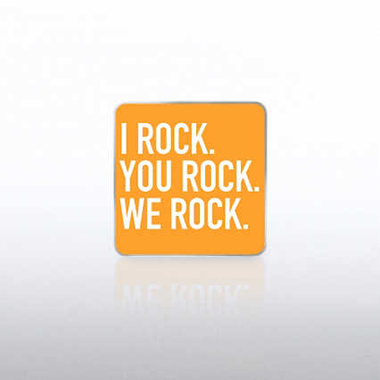 Lapel Pin - I Rock, You Rock, We Rock  WC