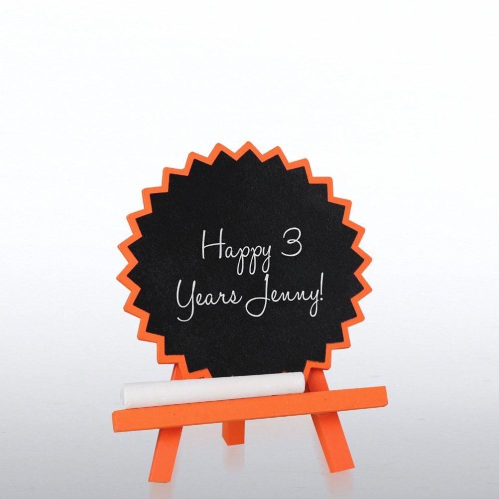 View larger image of Desktop Chalkboard Easel - Orange Burst