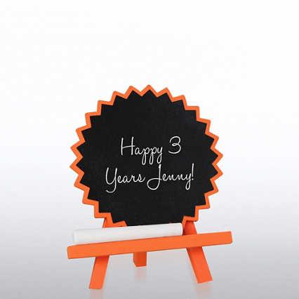 Desktop Chalkboard Easel - Orange Burst