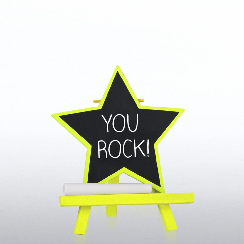 Desktop Chalkboard Easel - Yellow Star