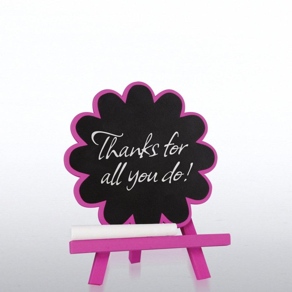 Desktop Chalkboard Easel - Violet Flower