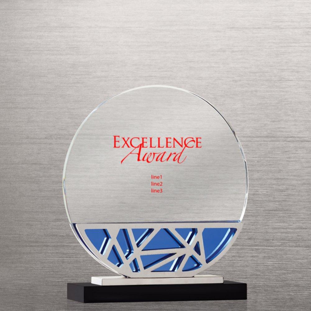 Abstract Metal and Crystal Award - Circle