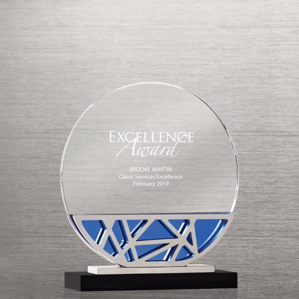 View larger image of Abstract Metal and Crystal Award - Circle