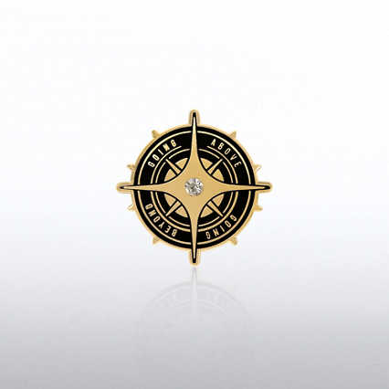 Lapel Pin - Going Above Going Beyond Gem