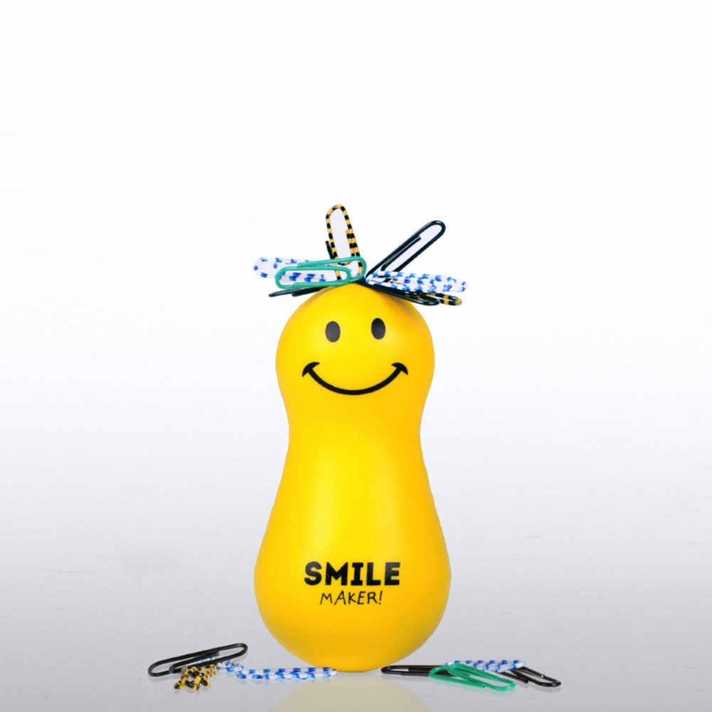 View larger image of Paper Clip Bobble Head - Positively Awesome - Smile Maker