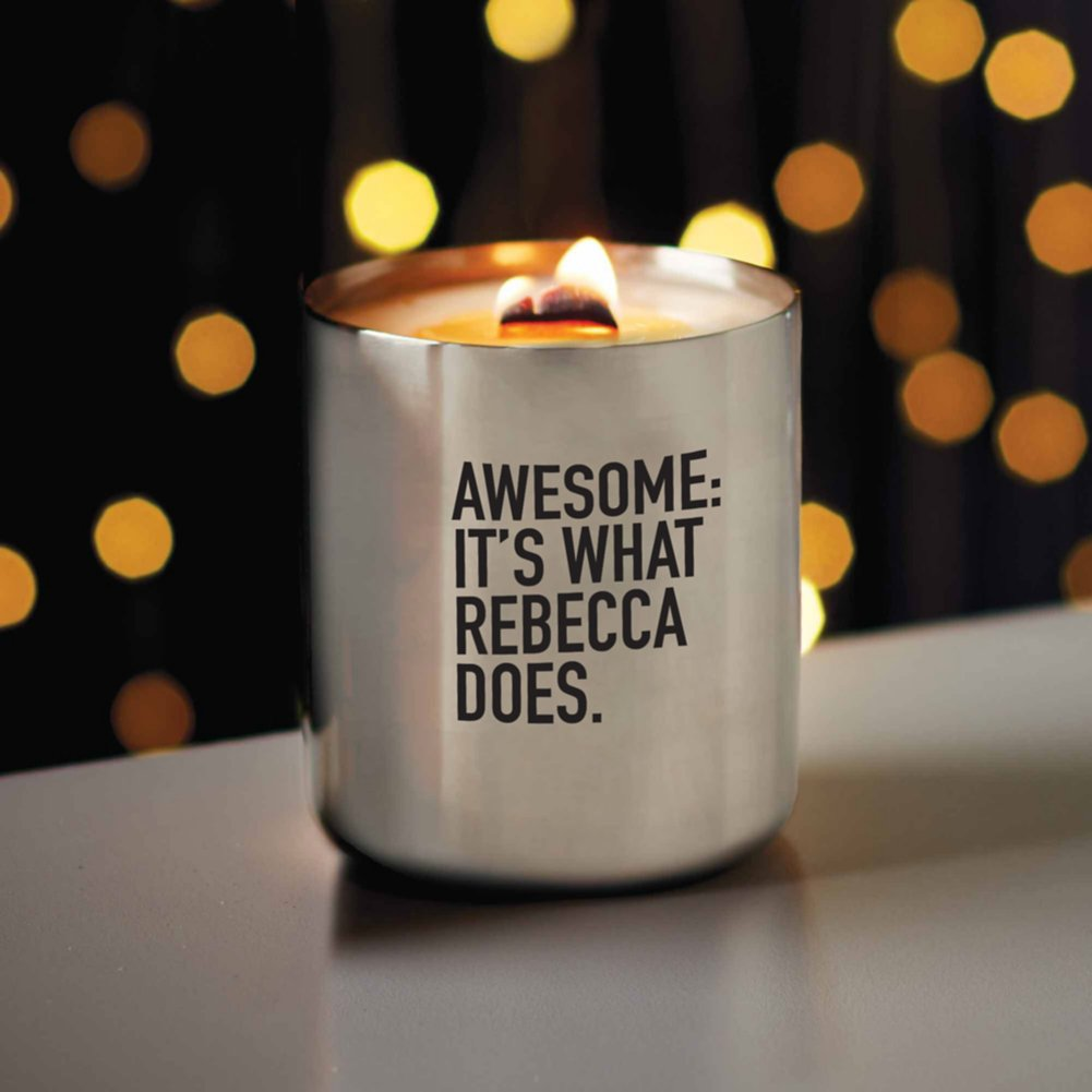 View larger image of Surpr!se Custom: All is Bright Stainless Candle - Silver