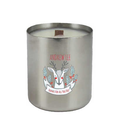 All is Bright Stainless Candle - Silver