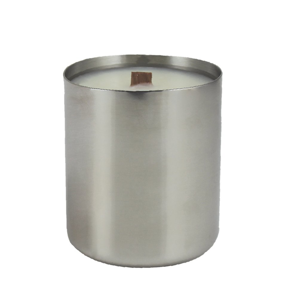 Custom Collection: All is Bright Stainless Candle - Silver