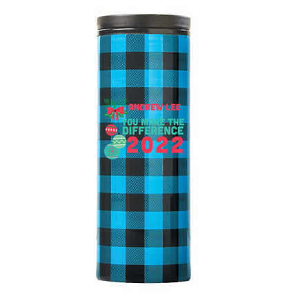 Warm Wishes Plaid Tumbler