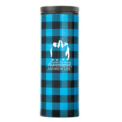 Surpr!se Custom: Warm Wishes Plaid Tumbler