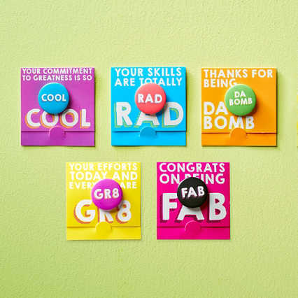 Bravo Button Pack - Bold and Bright Recognition
