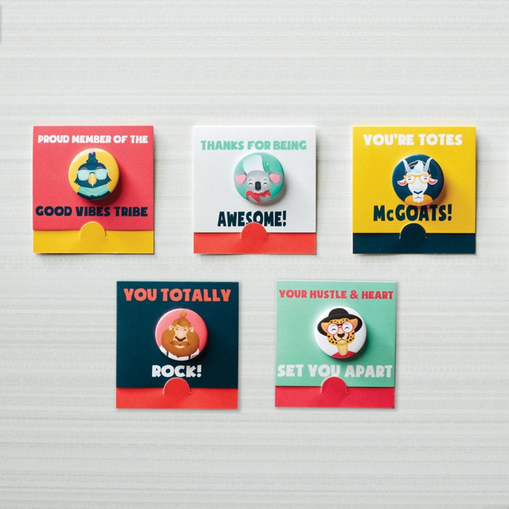 View larger image of Bravo Button Pack - Hipster Friends
