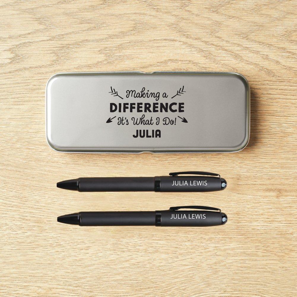 View larger image of Custom Collection: Modern Matte Black Pen Set in Case