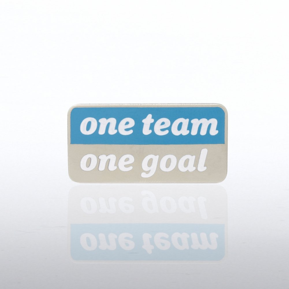 View larger image of Lapel Pin - One Team, One Goal - Words