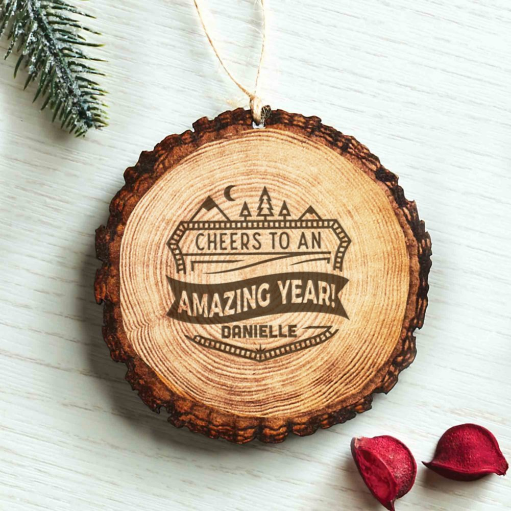 View larger image of Custom Collection: Engraved Wood Slice Ornament