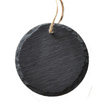 Surpr!se Custom: Engraved Slate Ornament -Round